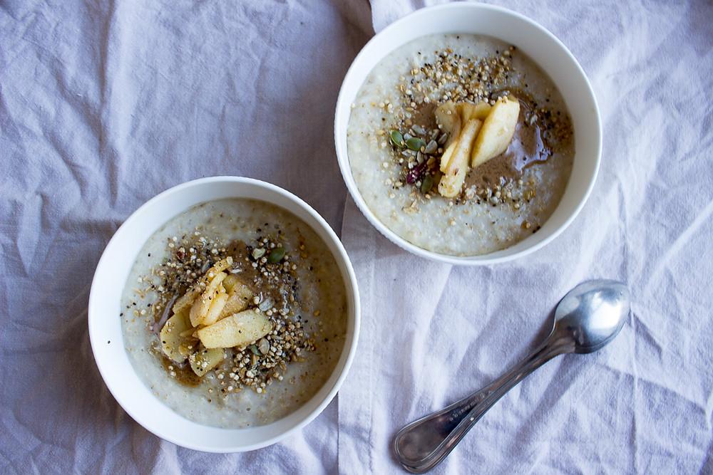 Porridge with Honey Apples