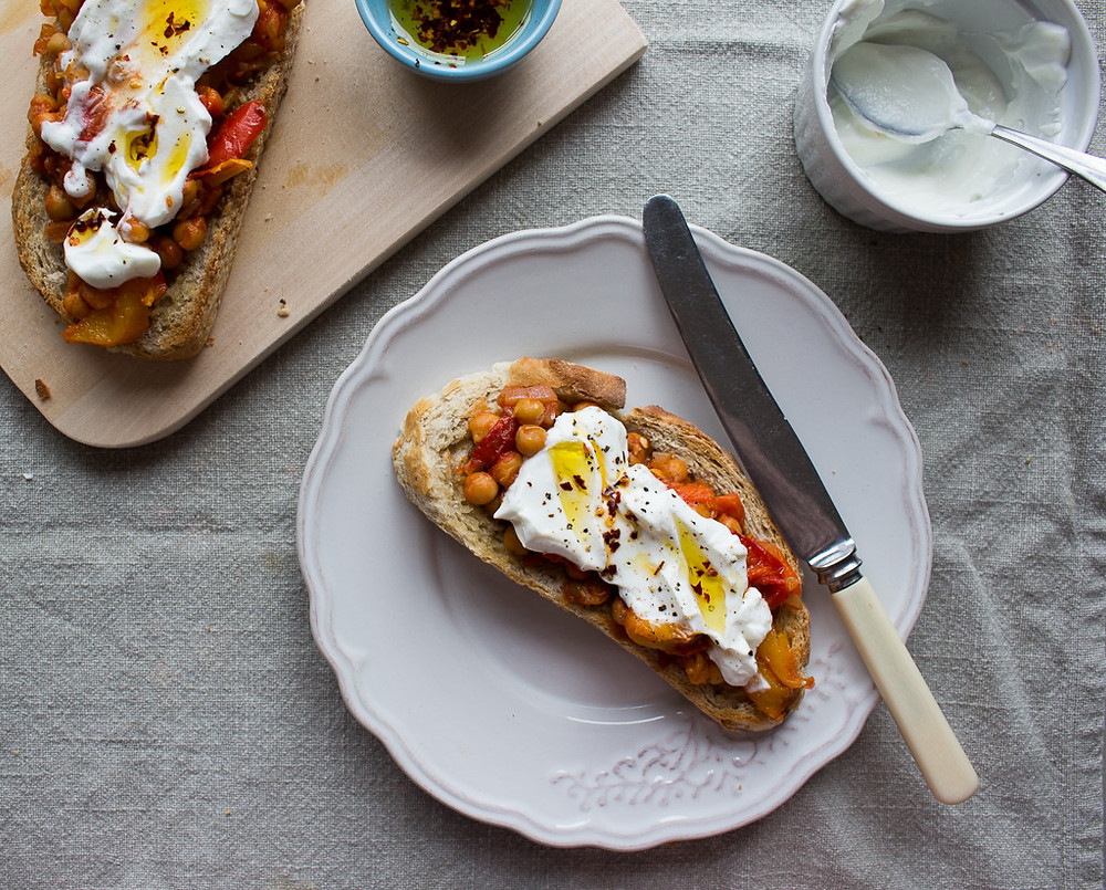 Picture of Roast Pepper & Chickpea Toast
