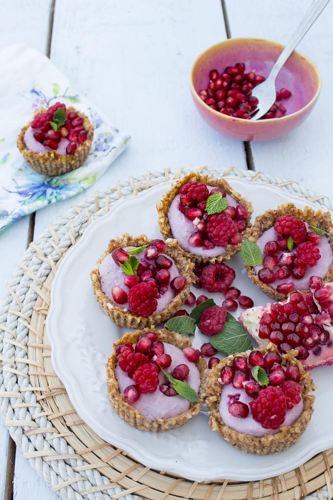 Photo of Raspberry & Pomegranate Tarts