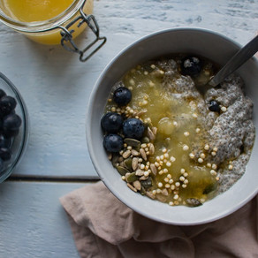 BLUEBERRY CHIA BOWLS WITH APPLE SAUCE