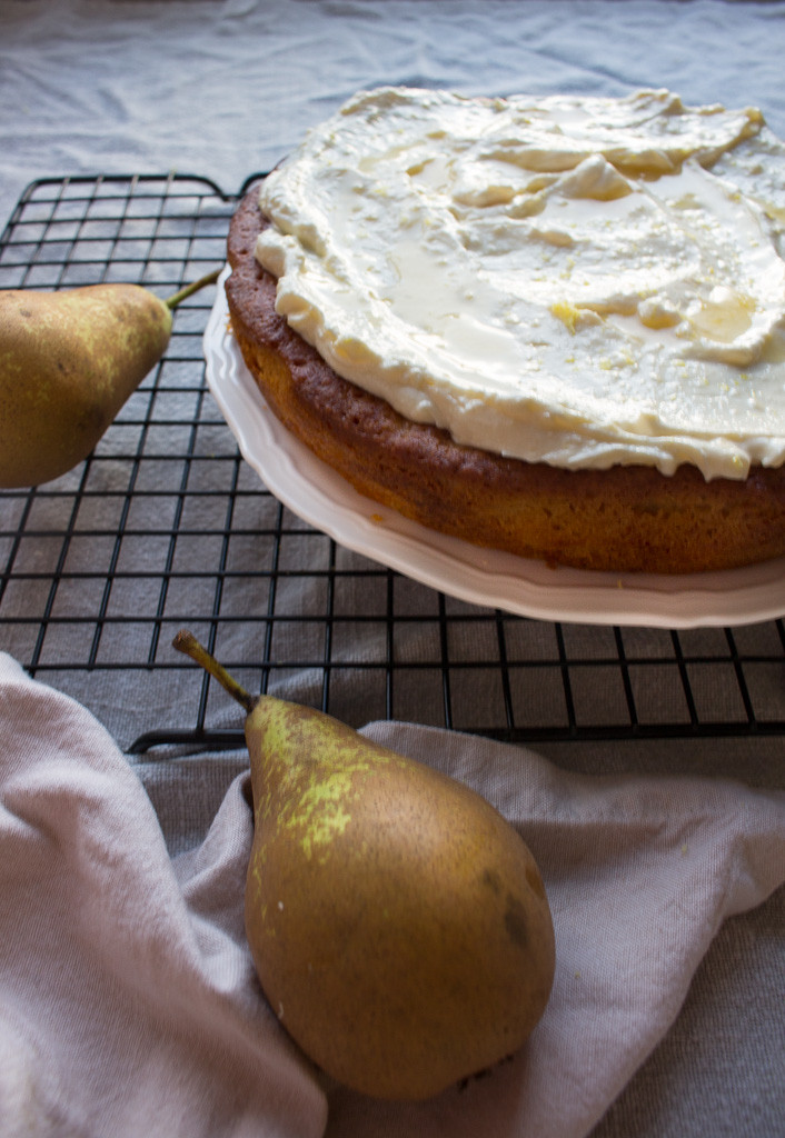 Picture of Pear, Almond & Honey Cake