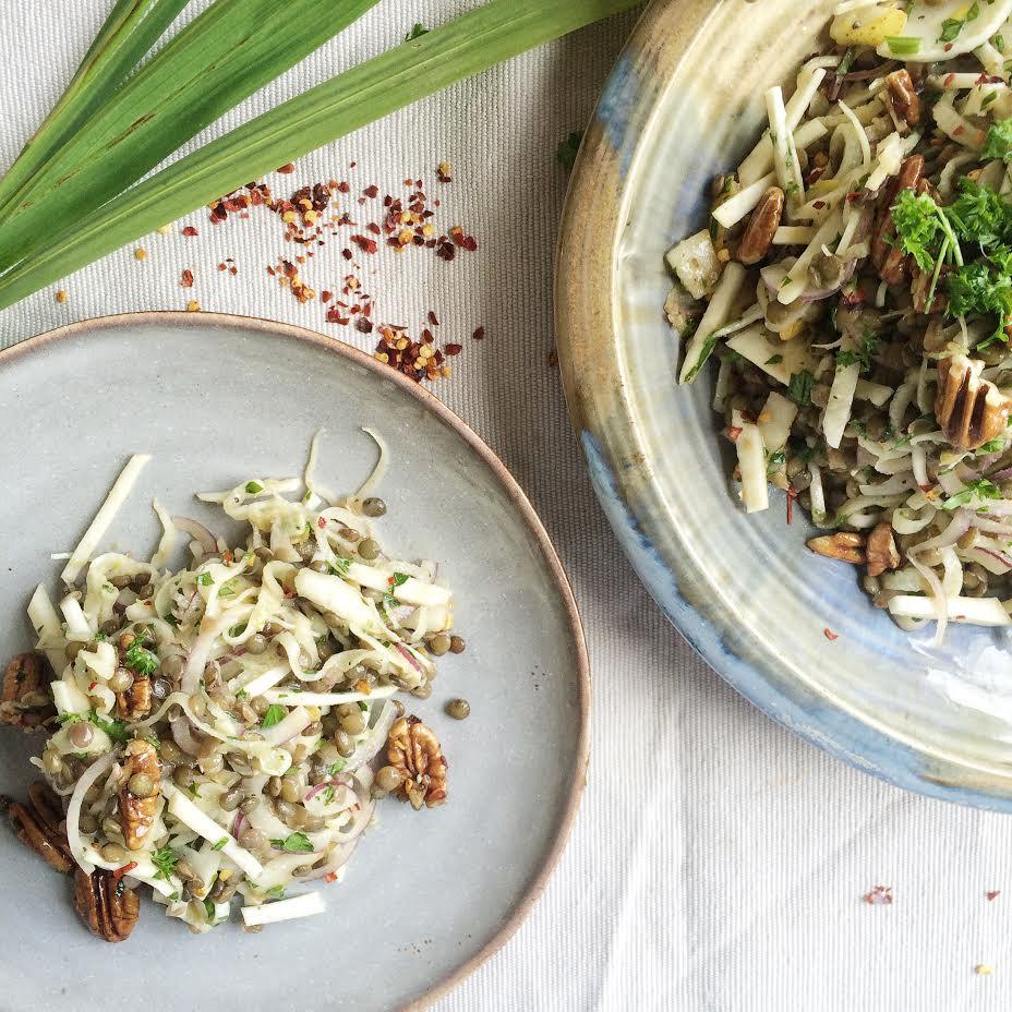 Celeriac and Pear Salad