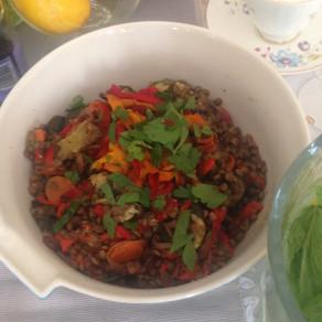 Lentil and Summer Vegetable Salad