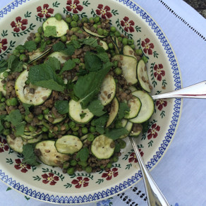 Recipe: Courgette, Pea and Mint Lentil Salad