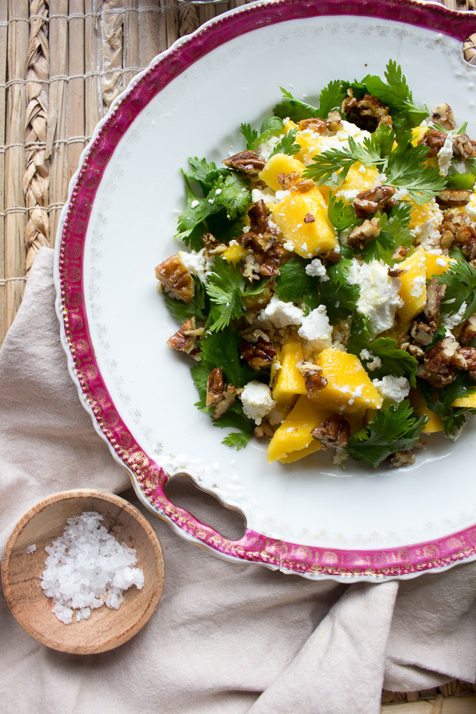 Image of Mango & Goat's Cheese Salad with Pecan Nuts