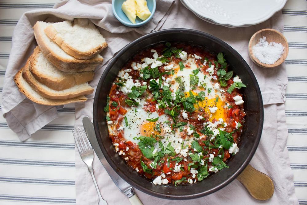 Harissa & Tomato Baked Eggs