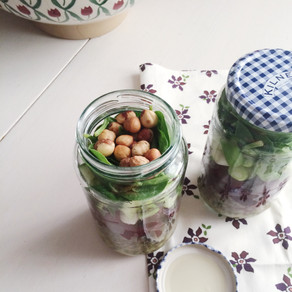 Recipe: Lentil & Beetroot Salad with Toasted Hazelnuts (Stored in a Jar)