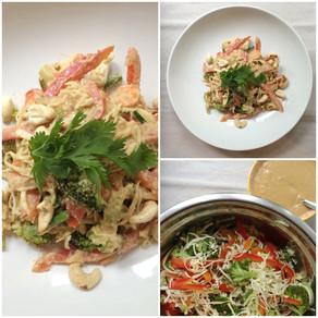 Recipe: Vegetable Pad Thai with a Creamy Tamari & Cashew Sauce