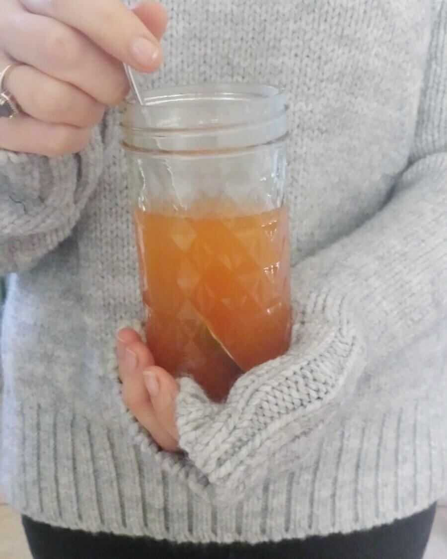 Apple Cider Vinegar, Ginger & Lemon Tonic