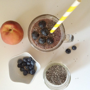 Recipe: Peach and Blueberry 'Treat' Smoothie