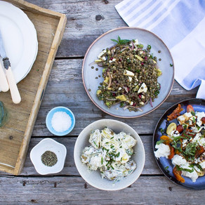 HOW TO MAKE ALL THREE OF THESE DELICIOUS SALADS IN LESS THAN 20 MINUTES