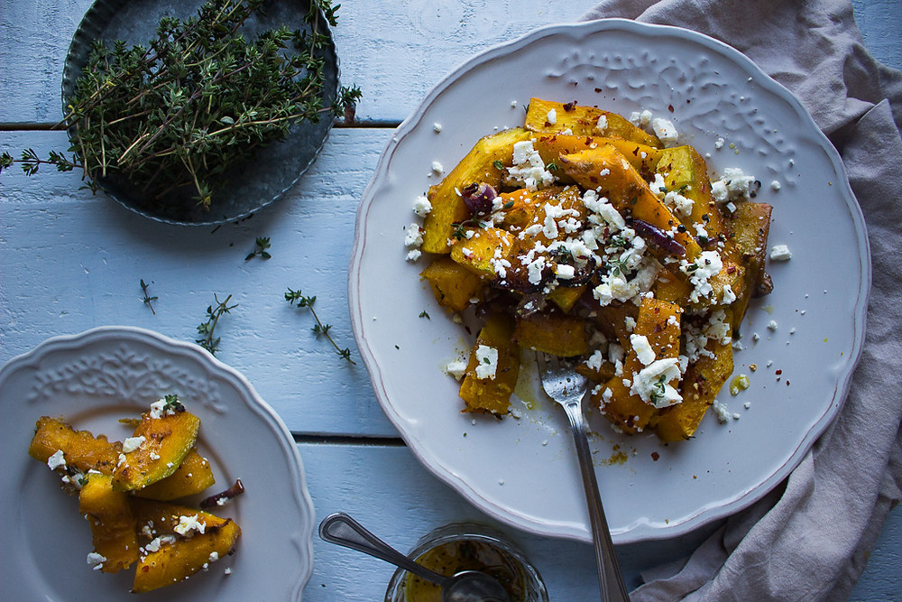 Maple & Thyme Roasted Pumpkin with Feta