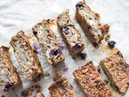 NUTTY SEEDY BLUEBERRY GRANOLA BARS