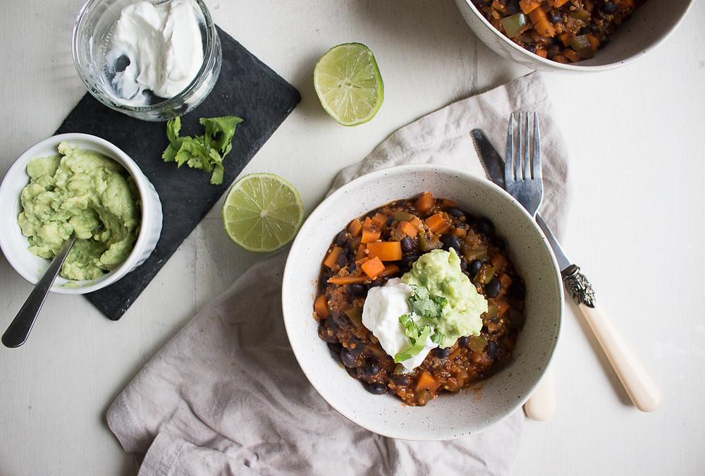 Black Bean & Quinoa Chilli