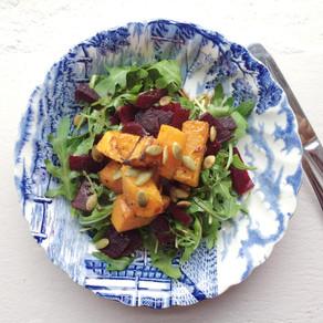 Recipe: Warm Butternut Squash & Beetroot Salad