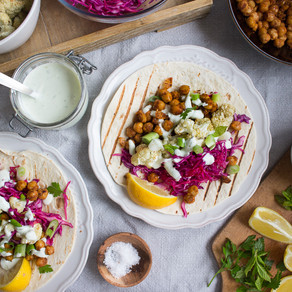 SPICY CHICKPEA & CAULIFLOWER TACOS