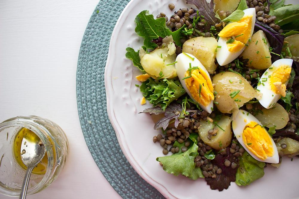 Potato, Egg & Lentil Salad