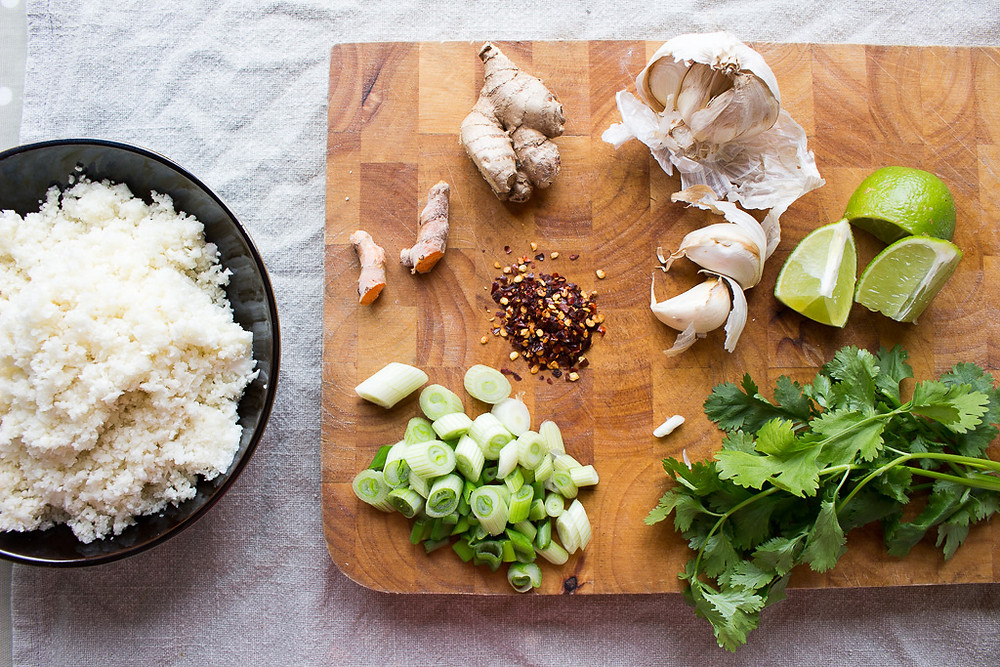 Cauliflower Rice Ingredients