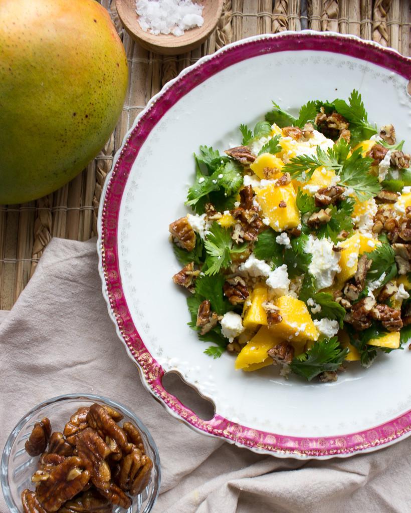 Mango & Goat's Cheese Salad