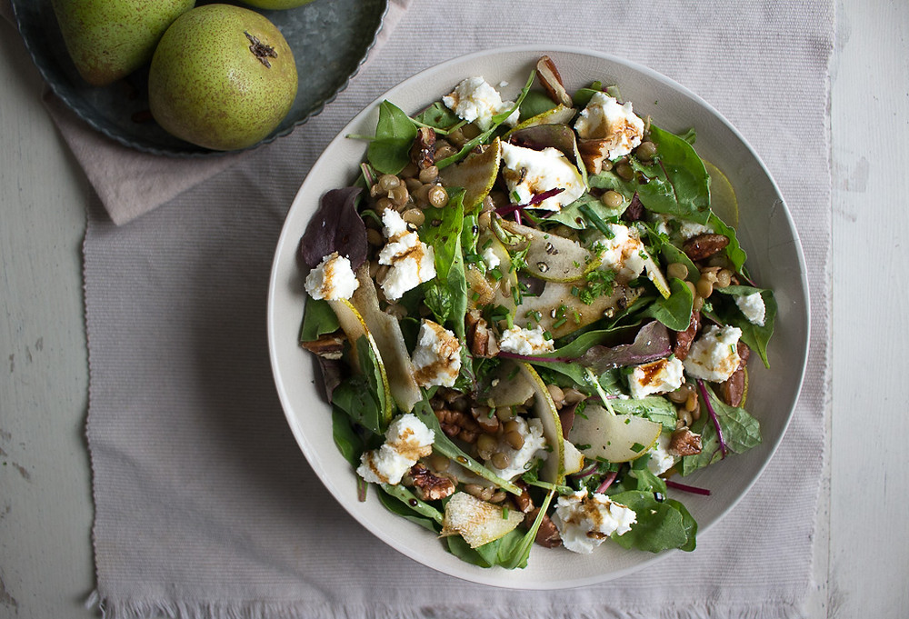 Pear and Goat's Cheese Salad