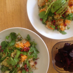 Recipe: Butternut squash and quinoa salad with balsamic beetroot