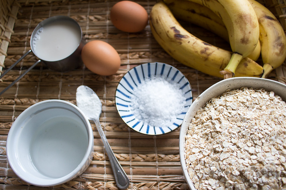Image of banana bread ingredients