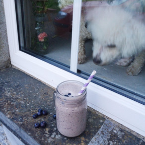 Recipe: Date, Cashew Butter and Blueberry Smoothie