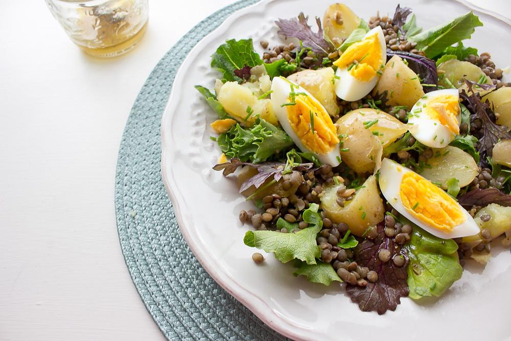 Picture of Potato, Egg & Lentil Salad