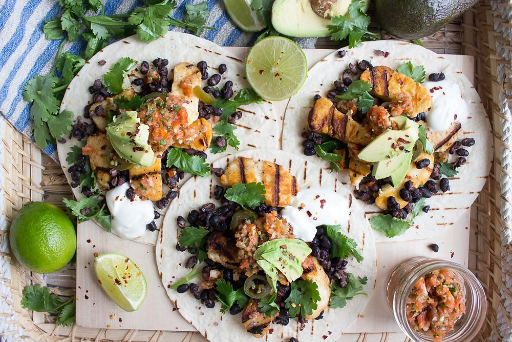 Halloumi & Black Bean Tacos