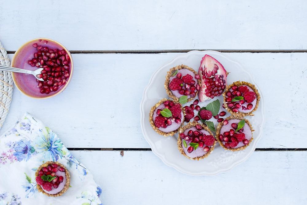 Frozen Raspberry & Pomegranate Tarts