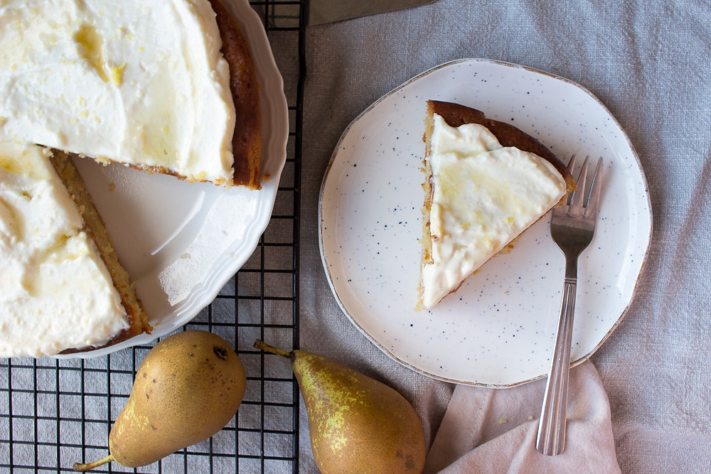 Pear, Almond & Honey Cake