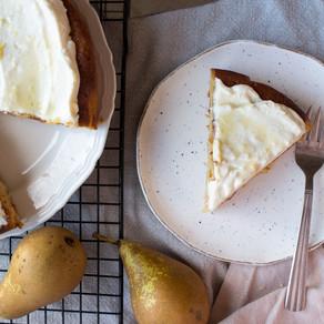 PEAR, ALMOND & HONEY CAKE