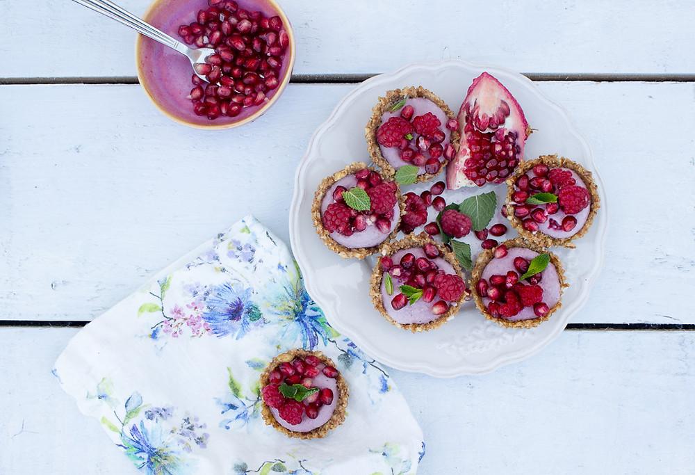 Image of Frozen Raspberry & Pomegranate Tarts