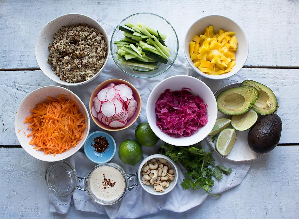 Picture of Vegan Poke Bowl Ingredients