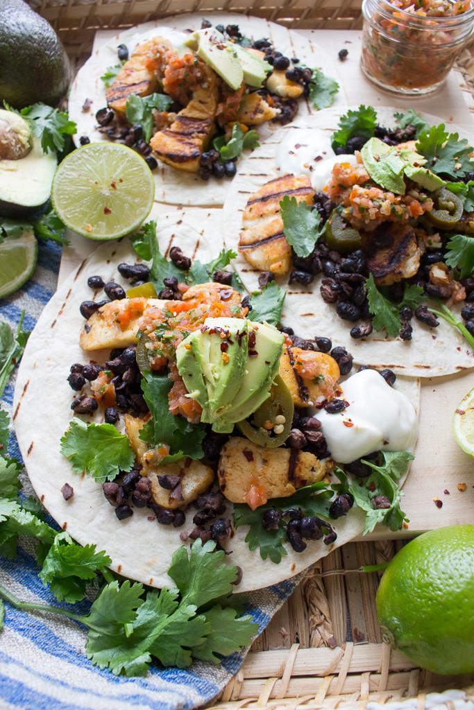 Image of Halloumi & Black Bean Tacos