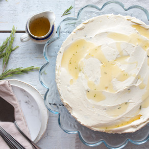 LEMON, HONEY & ROSEMARY CHEESECAKE