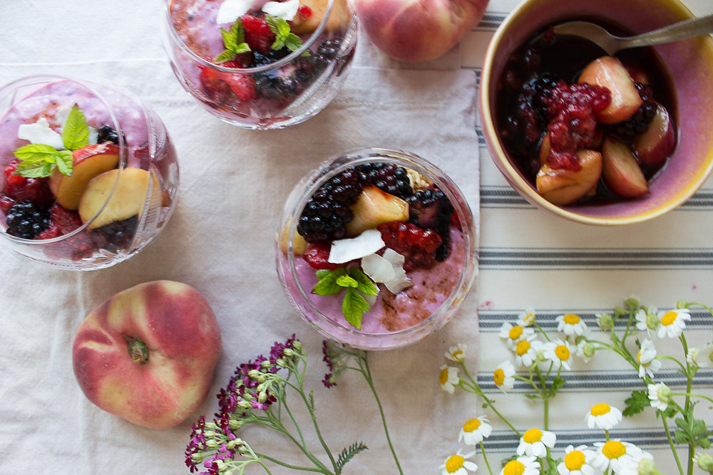 Berry and Peach Pots