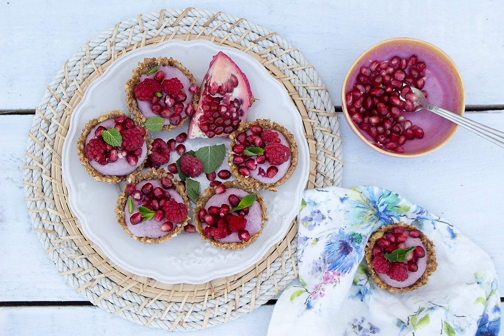 Raspberry & Pomegranate Tarts