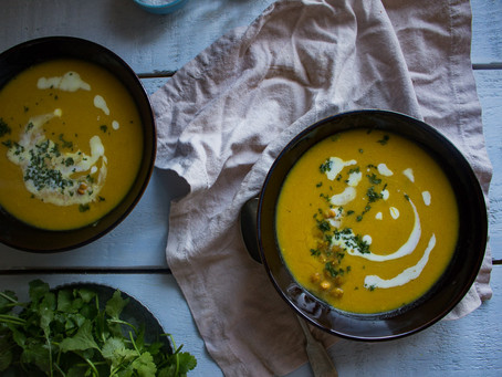 CURRY BUTTERNUT SQUASH & CHICKPEA SOUP
