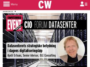 Digital konferanse 10.06.2021: Datasenterets strategiske betydning i dagens digitaliseringsløp