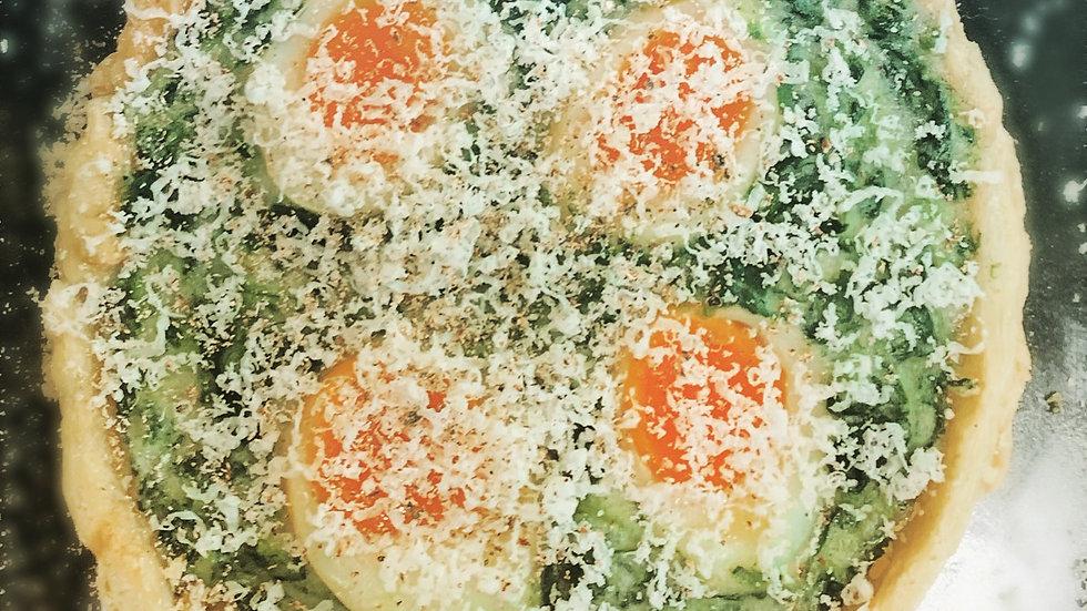 2 Spinach & Quail's Egg Tarts