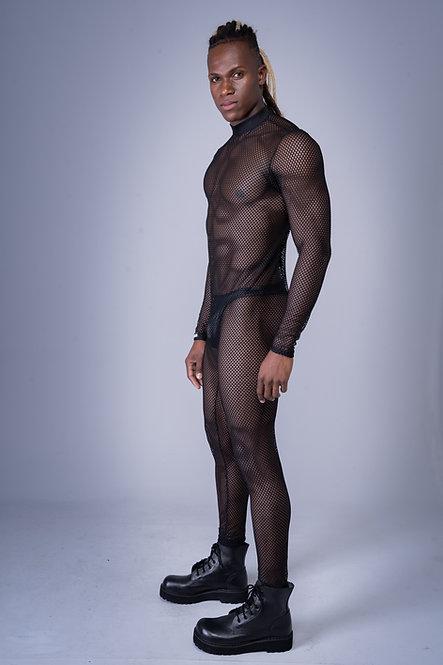 Black Fishnet Jumpsuit