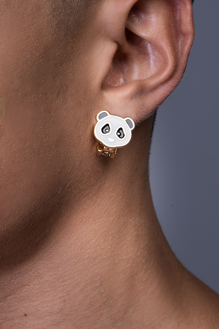 Teddy Bear Pressure Clip Earring
