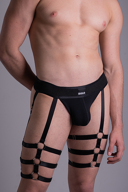 Jockstrap Leg Harness Black 2.0