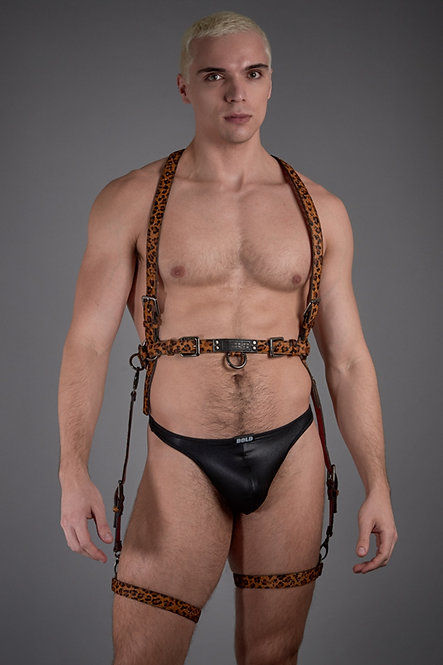 Body Harness Suspender Leopard