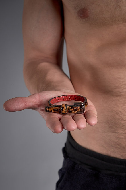 Cock Ring Belt Leopardo