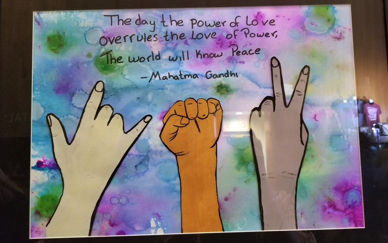 """""""Love Over Power"""" by ArtRicia Dunn"""