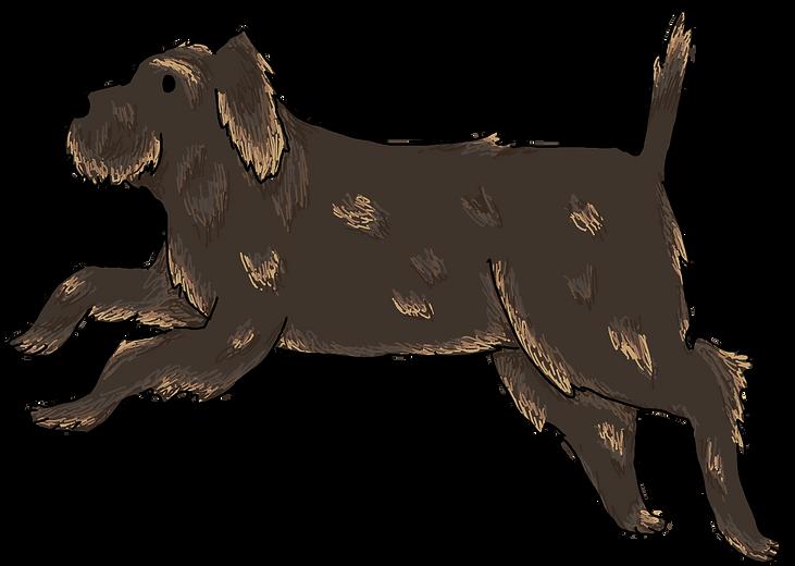 Hovermutt from the children's fantasy books, The Bone Grit Historeum