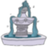 Perderly fountain from the middle grade fantasy books, The Bone Grit Historeum