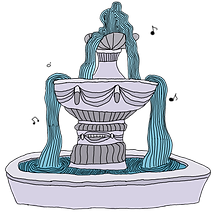 Fountain from the middle grade fantasy books, The Bone Grit Historeum
